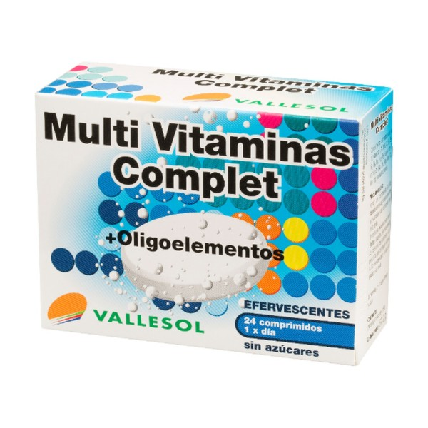 VALLESOL MULTIVITAMINAS + OLIGOELEMENTOS 24 COMP