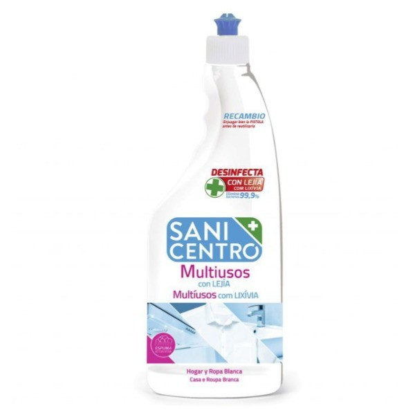 Sanicentro recambio limpiador spray Multiusos con Lejía 750 ml